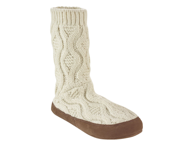 LLBean Beans Slipper Sock Cable Knit